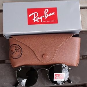 Brand New Ray Ban metal rounds 50mm